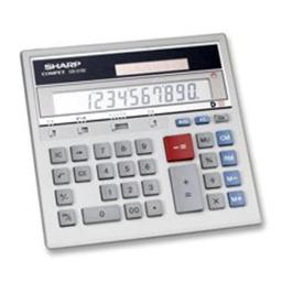 Sharp Electronics SHRQS2130 12-Dgt Desktop Calculator- Dual Power- 7-.50in.x6-.88in.x2-.67in.- GY