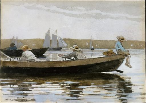 Boys in a Dory Poster Print by Winslow Homer (American, Boston, Massachusetts 1836