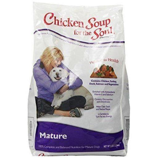 Chicken Soup for the Soul Pet Food CK01168 Chicken Soup for the Dog Lovers Soul Mature Dog Food - 5 lbs