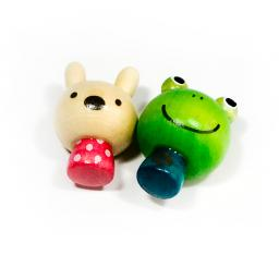 Mini Frog & Rabbit - Refrigerator Magnets / Animal Magnets