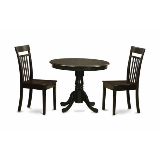 East West Furniture ANCA3-CAP-W 3 Piece Kitchen Table Set-Kitchen Table and 4 Dining Chairs