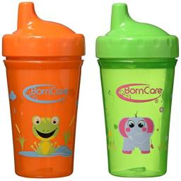 BornCare BCWS-159 10 oz Non Spill Cup for Baby- 2 Pack