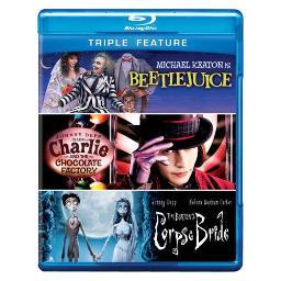 Beetlejuice/charlie & chocolate factory/corpse bride (blu-ray/tfe) BR304257D