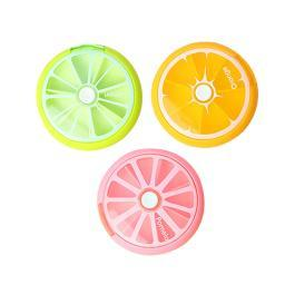 3-Pack :Fruit Shaped Rotating Weekly Pill Organizer and Dispenser