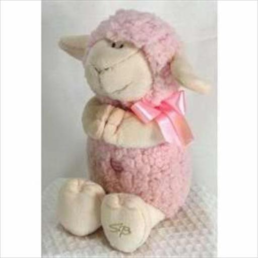 Stephan Baby 133813 Toy Plush Musical Lamb Jesus Loves Me 11 In. Pink F086178FF246C0F8