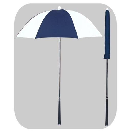 RainStoppers W058NYW Navy & White Golf Bag Deflector Umbrella with Golf Grip Handle, 3 Piece