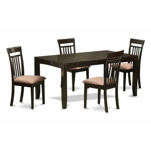 5 Piece Dining Room Set-Dining Room Table With Leaf Plus 4 Kitchen Chairs