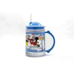 World of Mary Blair Childs Trains Straw Cup
