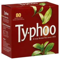 TYPHOO TEA BLCK RGLR-80 BG -Pack of 6