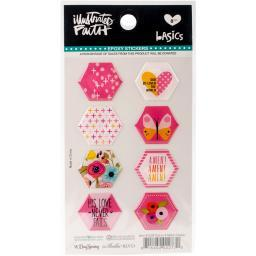 Illustrated Faith Basics Hexies Epoxy Stickers-One In A Melon