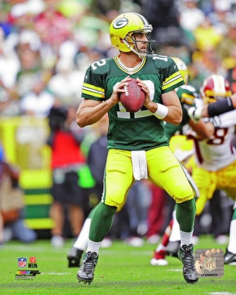 Aaron Rodgers 2013 Action Photo Print