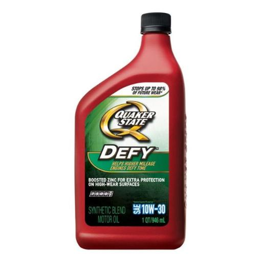 Quaker State 550043280 1 qt Defy SAE 10W30 Synthetic Motor Oil - pack of 6