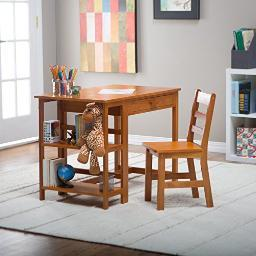 Lipper 584p child desk and chair pecan