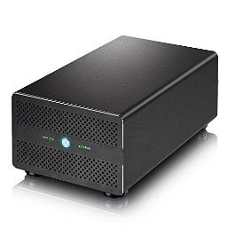 Akitio t3dp-t3du3is-aktu 2bay, 2.5in or 3.5in external storage enclosure. features 2xthunderbolt3 ports,