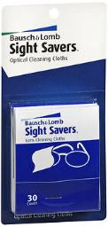 Bausch + Lomb Sight Savers Optical Cleaning Cloths, 2 - 30 Ct, Pack Of 3