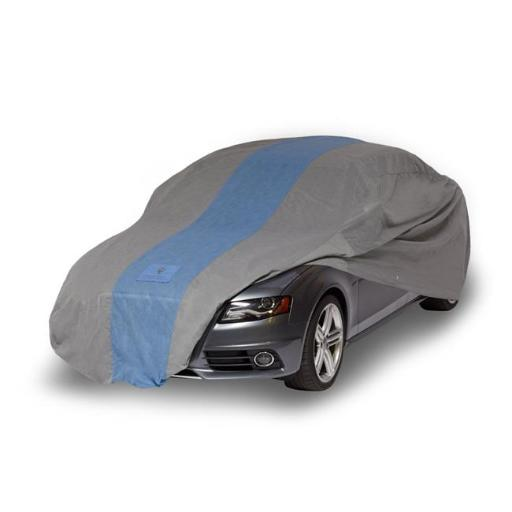 Classic Accessories A1C170 Duck Defender Car Cover for Sedans up to 14 ft, Light Grey & Gulf Blue 0IRHKAAMJ8RLWQUG