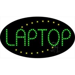 Sign Store L100-1720 Laptop Animated LED Sign, 27 x 15 x 1 In.