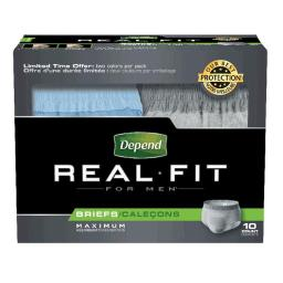 Kimberly Clark 6912779 38-50 in. Real Fit Briefs for Men, Large & Extra Large