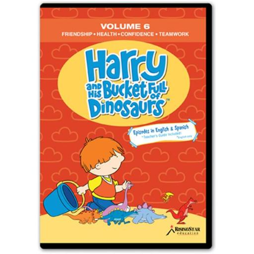 Rising Star Education HBD006 Harry & His Bucket Full of Dinosaurs- Vol. 6 - Friendship- Health- Confidence- Teamwork- DVD