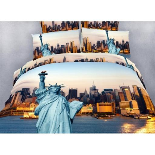Dolce Mela DM492T NYC City Themed Extra Large Twin Size Bedding Duvet Cover Set