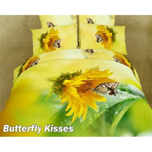 Dolce Mela - Butterfly Kisses Twin Size 4 Pieces Duvet Cover Set Chic Girl Dorm Bedding DM428T