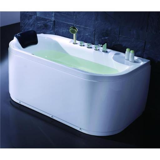 EAGO LK1103-R White Acrylic 5 inch Soaking Tub with Fixtures