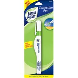 Liquid Paper Correction Pen White 5620415 Pack Of 12