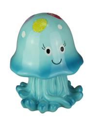 Joyful Jellyfish Childrens Coin Bank Blue or Pink