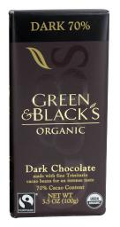 Green & Black's Organic - Chocolate Bar Dark Chocolate 70% Cacao