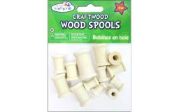 Mulcw344 multicraft wood spools astd natural 13pc