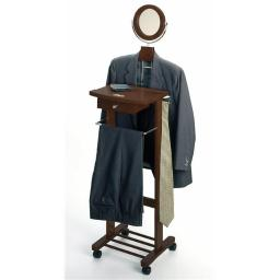 Antique Walnut Beechwood VALET STAND