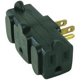 Axis 45092 3-outlet Heavy-duty Grounding Adapter (green)