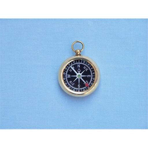 Solid Brass Beveled Black Faced Compass 2 in. Compasses Decorative Accent