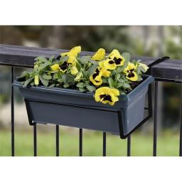 Panacea 89054 Black Over the Deck Adjustable Flower Box Holder 7207293