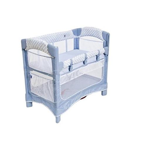 Arms Reach Concepts 5431-PP Mini Ezee 3-in-1 Bassinet - Periwinkle Pane & Blue