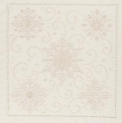 """Snowflakes Candlewicking Embroidery Kit 14""""X14"""" Stitched In Thread"""