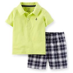 Carter's Baby Boys' 2 Piece Short Set (Baby) - Yellow - 6 Months