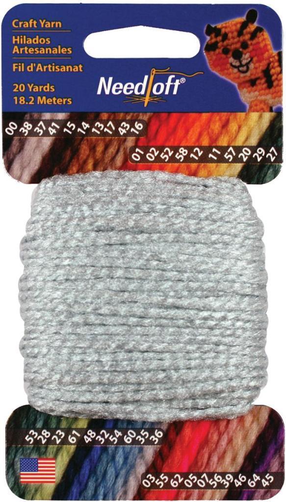 Needloft Craft Yarn 20yd Baby Blue