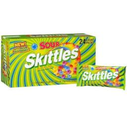 DDI 952842 Skittles Sours Orig Single 1.8 Oz. 24 Count Case Of 24