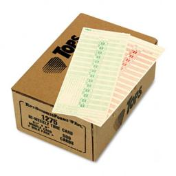 Tops 1275 Time Card for Lathem  Bi-Weekly  Two-Sided  3-1/2 x 9  500 per Box