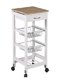 Home Basics KT44135 Kitchen Trolley Drawer with 2 Basket