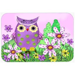 Carolines Treasures PJC1096LCB Who Is Your Friend Owl Glass Cutting Board, Large PJC1096LCB