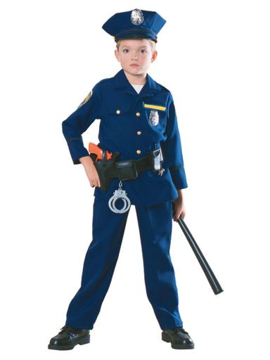 Police Officer Kids Costume Child Small 4-6 (3-4 yrs),Child Large 12-14 (8-10 yrs),Medium