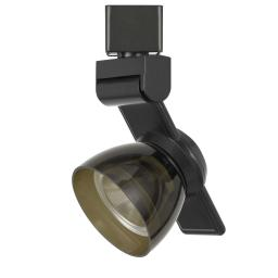 12W Integrated LED Track Fixture with Polycarbonate Head, Black