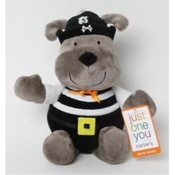 "Carter's Just One You MINI Halloween Pirate Puppy Dog [plush rattle 6"" toy]"