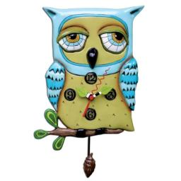 Allen Studio Designs Old Blue Owl Clock