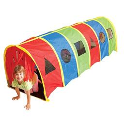 """Pacific Play Tents 95200 Kids Super Sensory 9-Foot D Style Institutional Crawl Play Tunnel, 9' x 30"""" x 30"""""""