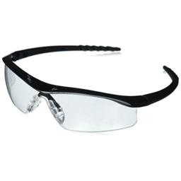 MCR Safety DL110 Dallas Safety Glasses with Polished Black Frame and Clear Lens