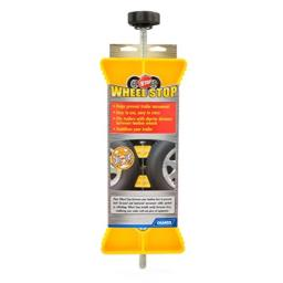 """Camco RV Wheel Stop- Stabililizes Your Trailer by Securing Tandem Tires to Prevent Movement While Parked- 26"""" to 30"""" Tires- Small (44652)"""