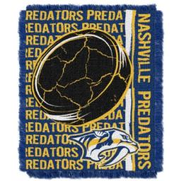 """The Northwest Company Officially Licensed NHL Nashville Predators Double Play Jacquard Throw Blanket, 48"""" x 60"""""""